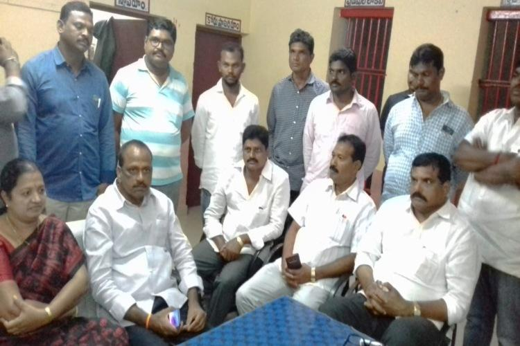 Illegal limestone quarrying YSRCP fact-finding committee arrested in Guntur