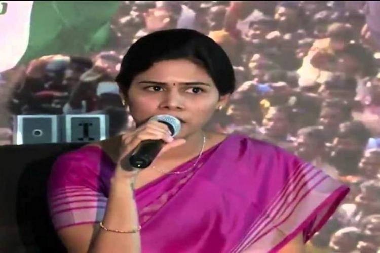 YSCRP MLA cries foul as money sanctioned for her constituency in TDP leaders name