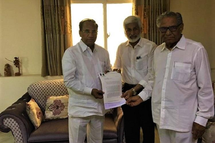 Disqualify 22 MLAs who defected to TDP YSRCP submits memorandum to Speaker
