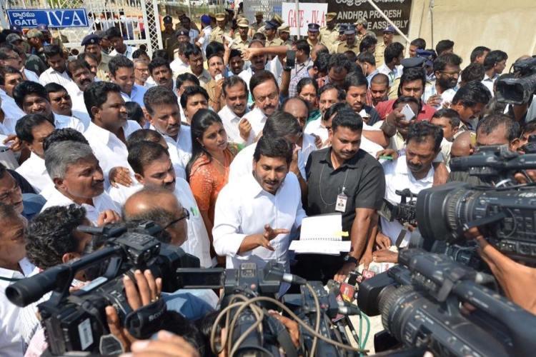Following YSR Congress leaders murder in Kurnool Jagan seeks Presidents rule in Andhra