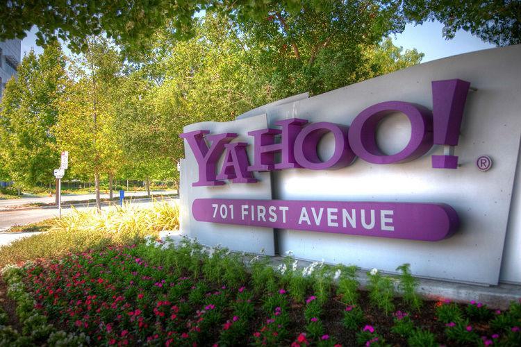 Yahoo board at the company office