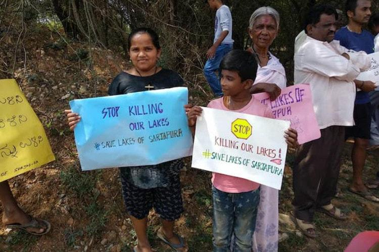 We are losing our livelihood Bluru locals protest against Yamare Lake encroachment