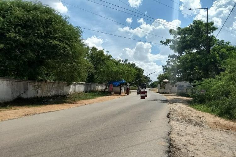 A road closed by the Army in Secunderabad