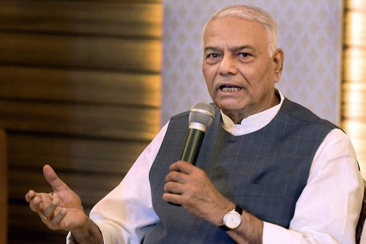 Yashwant Sinha announces decision to quit BJP says democracy under threat