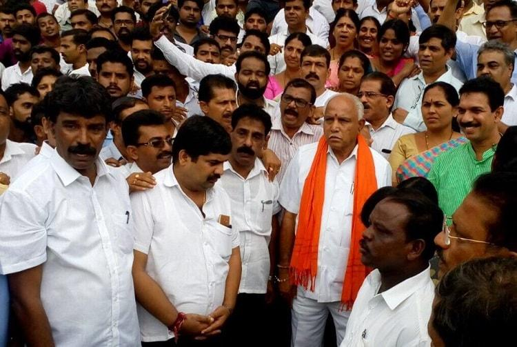 Karnataka will be up in flames if RSS leader Prabhakar Bhat is arrested BSY warns govt