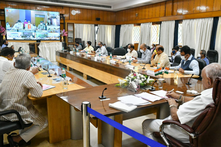 CM BS Yediyurappa in a video conference