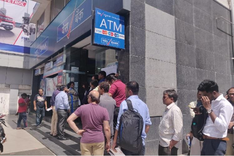 Yes Bank crisis Account holders rush to branches across India after moratorium