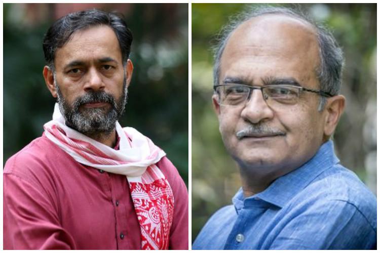 Yogendra Yadav and Prashant Bhushan deny returning to AAP