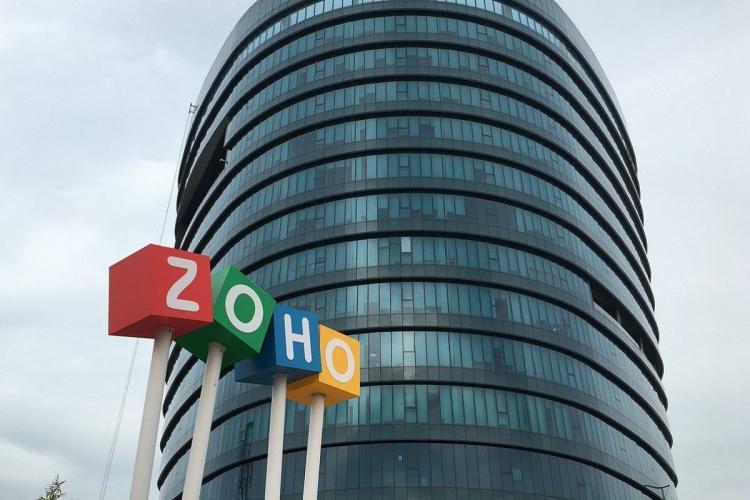 Zoho headquarters in Chennai, logo visible