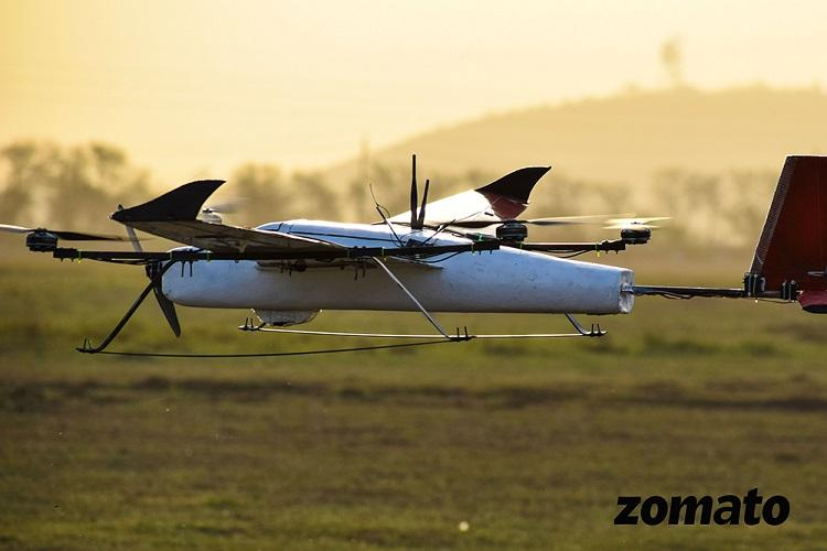 Food delivery by drones Zomato successfully tests its drone technology