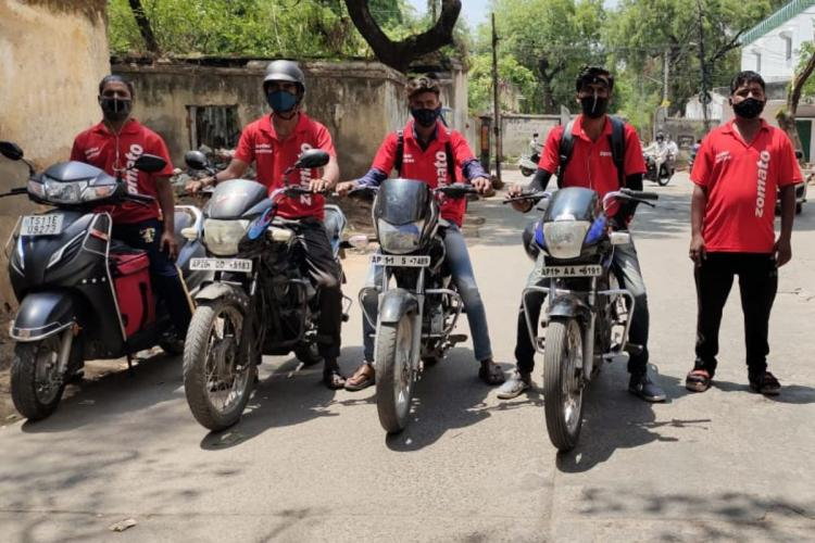 Food delivery executives faced a fine of Rs 1000 as Hyderabad police enforce lockdown