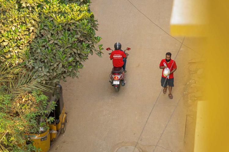 Zomato delivery personnel