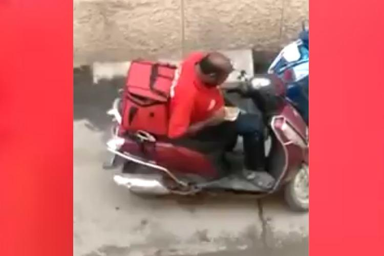 Video of Zomato agent eating food meant for delivery goes viral co launches probe