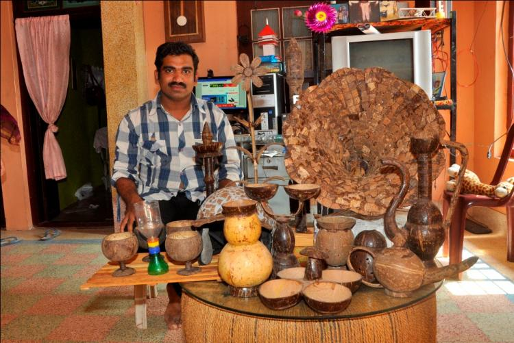 Want to do away with plastics Meet the Kerala magician who uses coconut shells