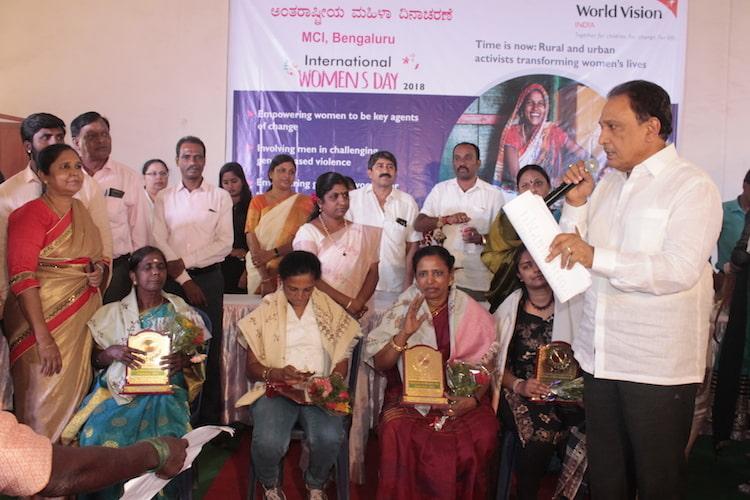 World Vision India awards women achievers from slum communities in Bengaluru