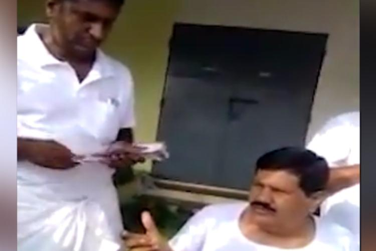 AIADMK MLA caught on cam distributing liquor cartons claims it was just food