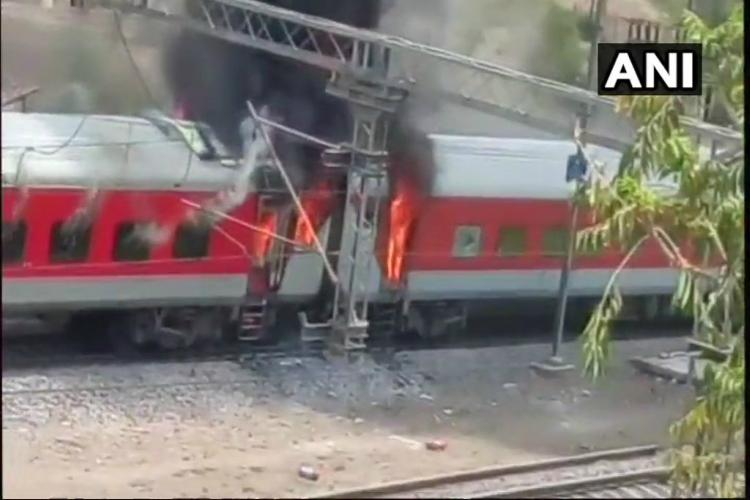 Vizag-bound AP Express catches fire in Madhya Pradesh no injuries reported