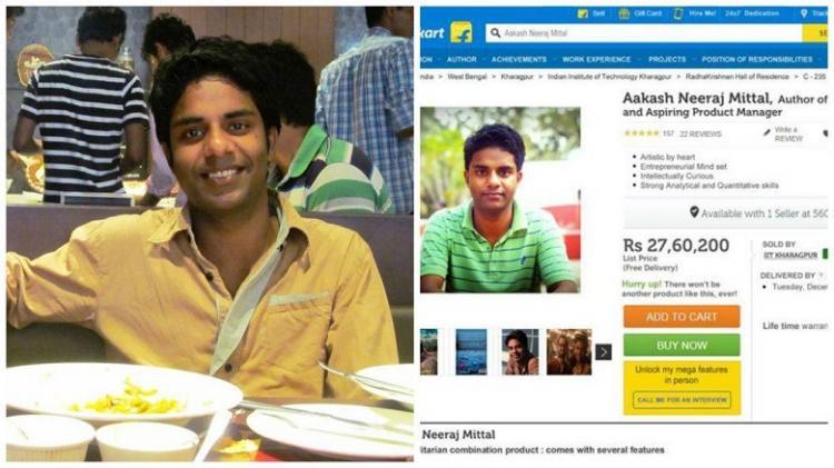 IIT-Kharagpur grad wanted a job in Flipkart put himself up for sale
