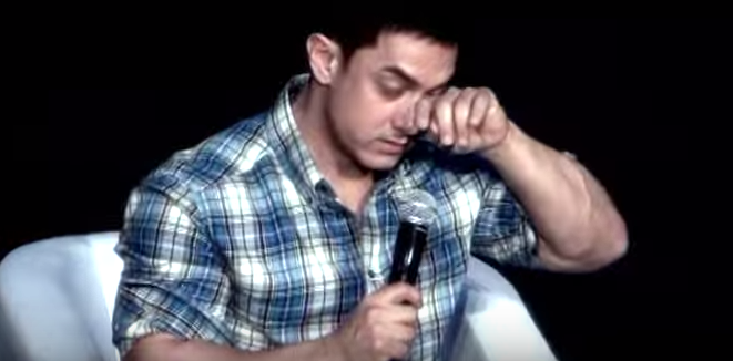 Why is Aamir Khan shedding tears without glycerin in his eyes