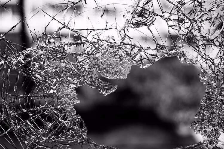 File image of a broken windshield