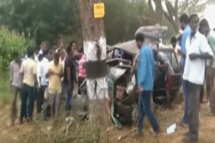 Five including bridegroom killed after their vehicle rams into tree in Telangana