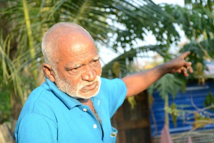 An 80-yr-old coolie who bought land with all his savings just to keep mining mafia out