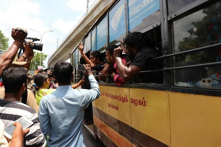 Illegally detained falsely charged for attacking cops Allege Chennai activists protesting NEET