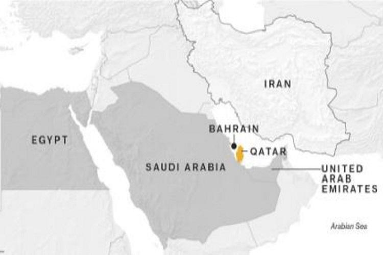 Egypt Saudi Arabia Bahrain And The UAE Cut Ties With Qatar Over - Map of egypt and uae