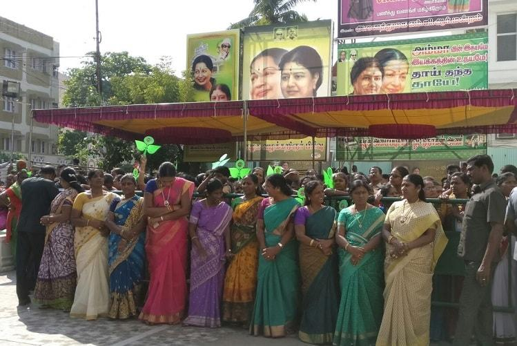 Celebration inside but division outside party HQ as Sasikala set to become CM