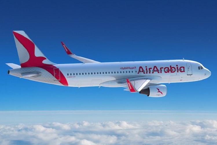 Air Arabia flight after takeoff