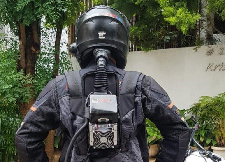 This Bengaluru Man designed air conditioned helmets for bike riders