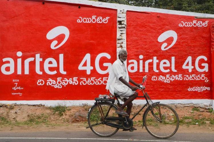 Bharti Airtel ad showing 4G