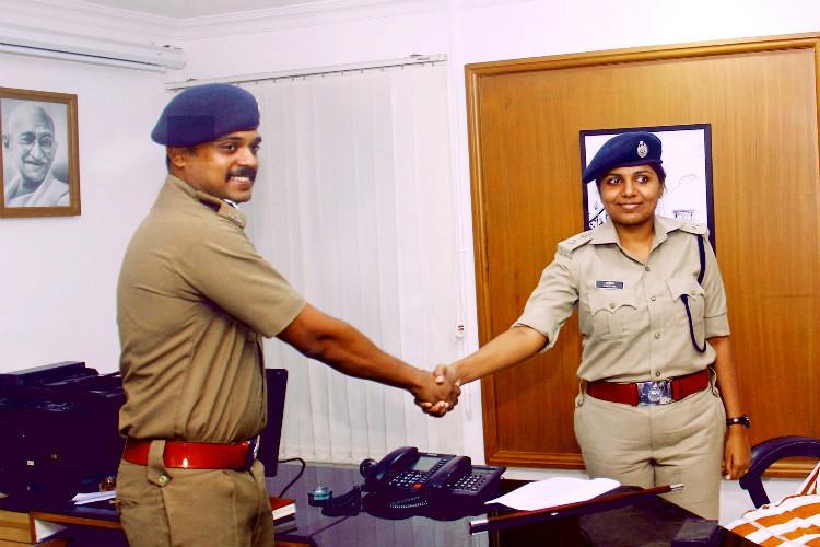 Meet Keralas cop couple Ajeetha IPS takes charge of Kollam from husband Satheesh IPS