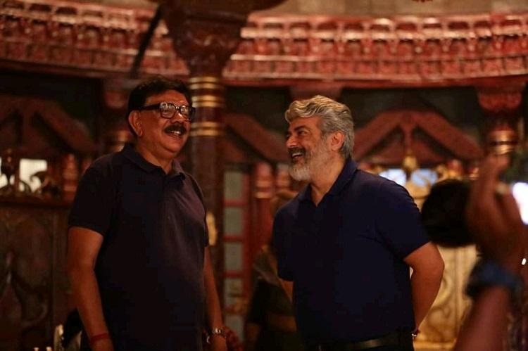 Ajith visits sets of Mohanlal starrer Marakkar
