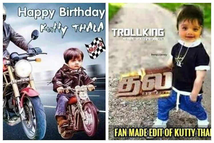 Kutty Thalas fantastic first Fan-made posters a rage on Ajiths sons birthday