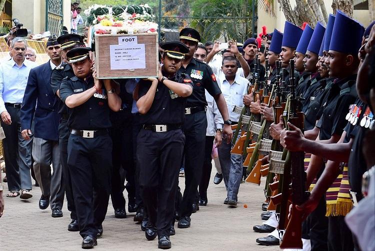 Bengaluru pays tribute to its brave son Major Akshay Girish Kumar