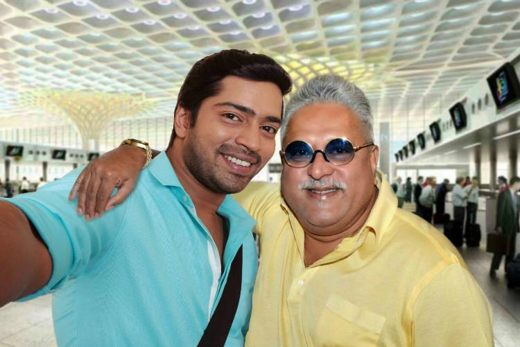 Did Mallya take a selfie with a Tollywood star before leaving India