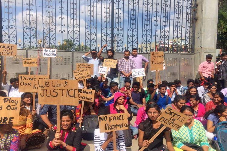 A family feud is wreaking havoc for 7000 students of a pvt university and its sickening