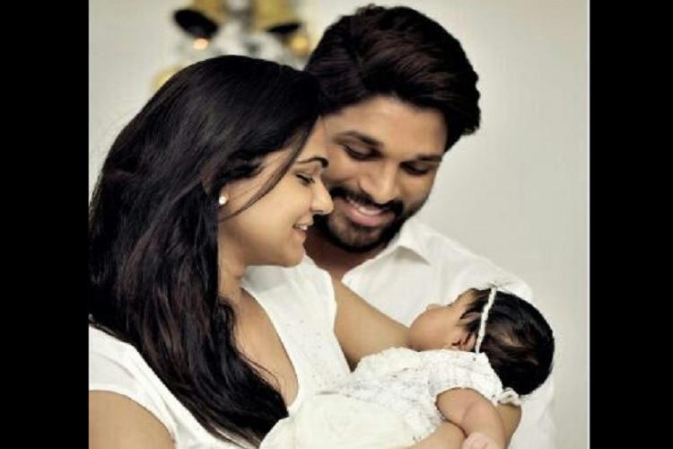 Allu Arjun and wife Sneha name their daughter Allu Arha