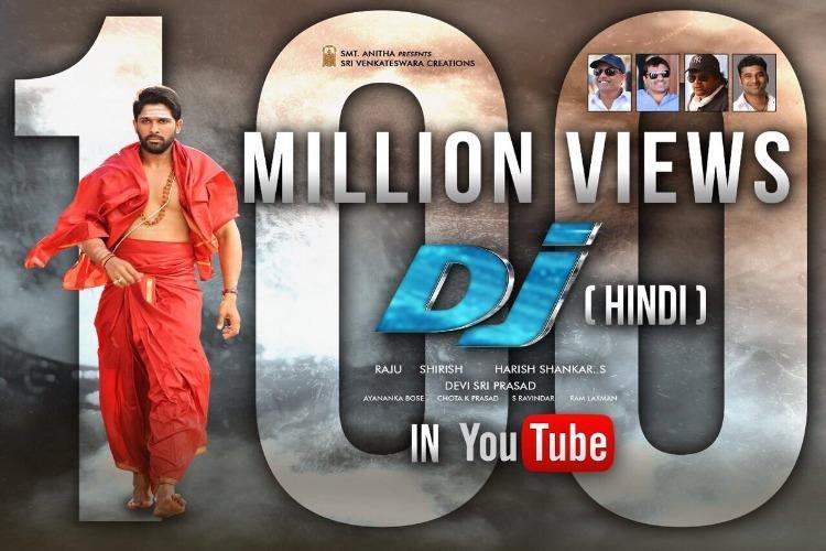 Dubbed Hindi version of Allu Arjuns Duvvada Jagannatham gets 100 million views