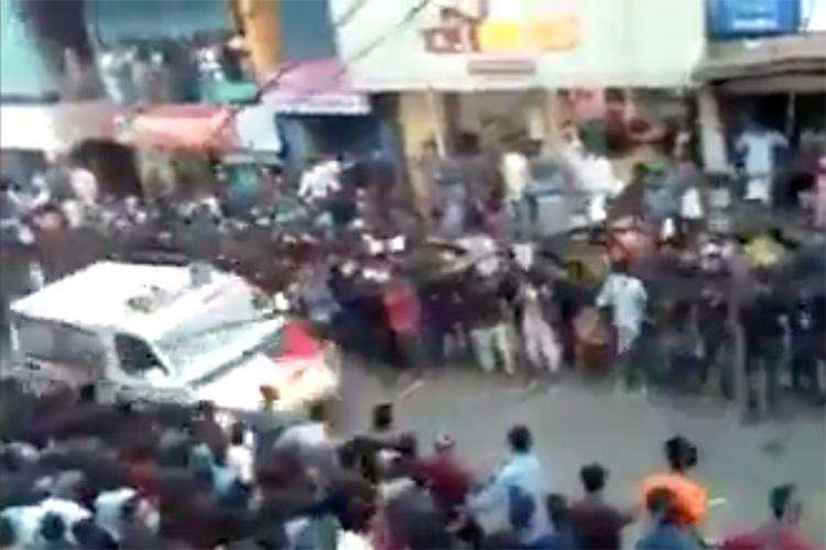 Watch Hundreds dancing for Kerala festival make way in seconds to let ambulance pass
