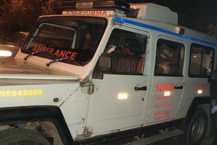 JNU violence Masked men allegedly block and attack ambulance outside university