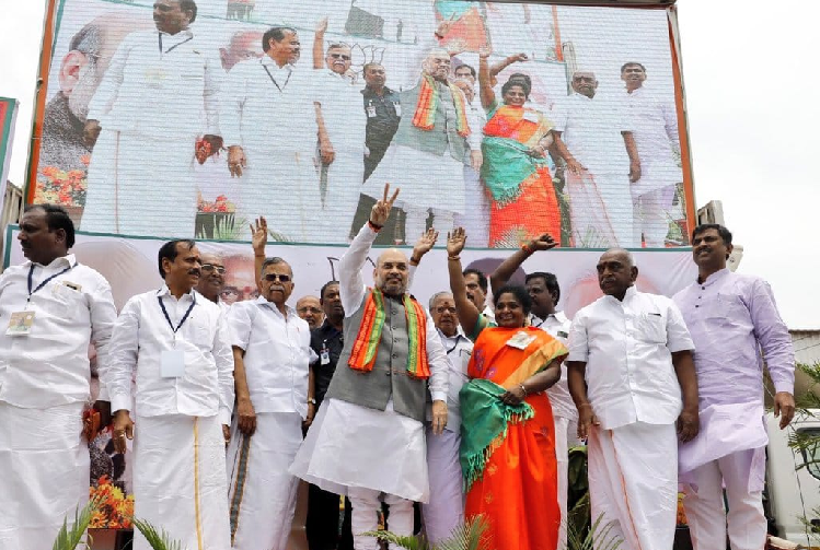 BJP gearing up for Mission Tamil Nadu 2019 Amit Shah sets ball rolling with first meet