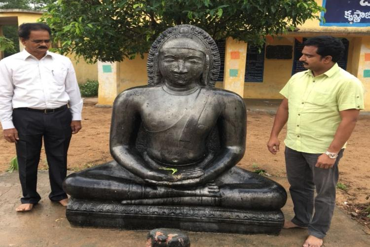 Rare 14th century Buddha sculpture unearthed in Andhra Pradesh