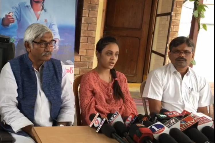 Caste killing victim Pranays wife Amrutha calls out casteists cheering fathers bail