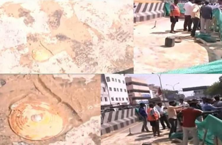 Another road caves in this time its Chennais prominent Anna Salai