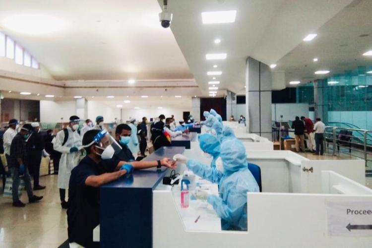 Antibody tests in a Kerala airport