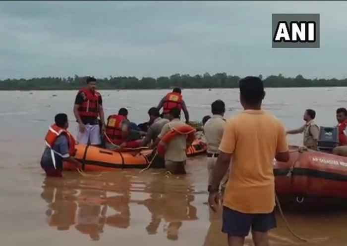 Over 50 workers rescued in AP after being stranded in Vamsadhara flood