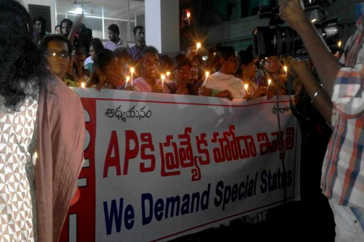 Students in Vizag boycott classes demand special status for Andhra