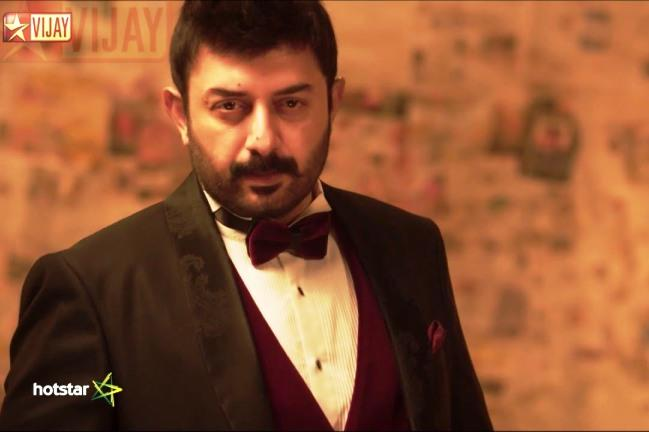 Arvind Swamy puppy dog eyes classy irresistible villain and now game show host